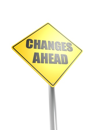Changes Ahead Road Sign Stock Photo - 16613008