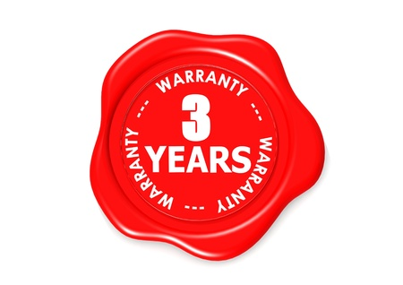 Three YEARS warranty seal Stock Photo - 16637607