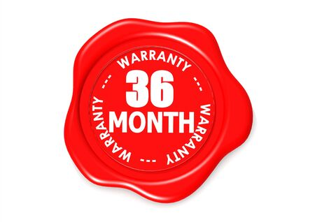 Thirty six month warranty seal Stock Photo - 16637613