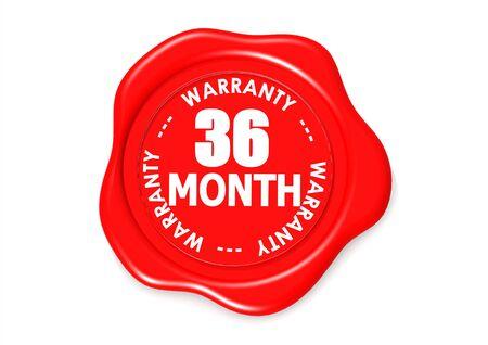 validez: Treinta y seis meses sello de garant�a Foto de archivo