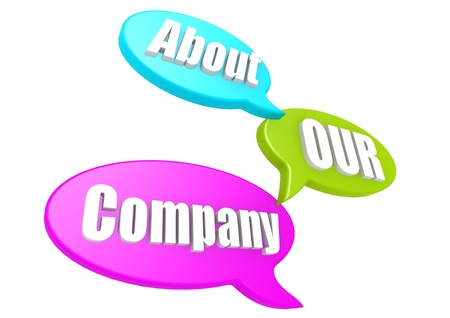 our company: About our company Stock Photo
