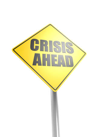 economic depression: Crisis ahead Stock Photo