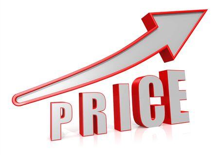 Price Growth with arrow symbol Stock Photo - 16637609
