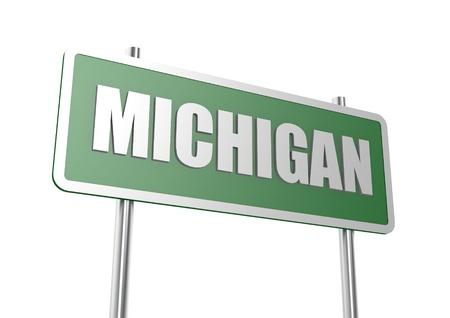 ミシガン州の看板