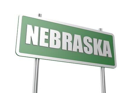 nebraska: Nebraska sign board