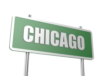 Road sign Chicago Stock Photo - 16713682