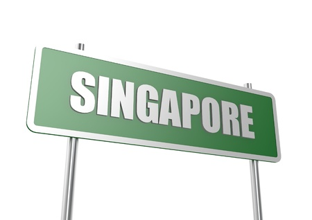 Road sign Singapore Stock Photo - 16713535
