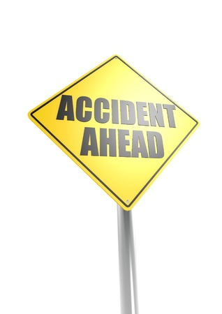 Accident ahead Stock Photo - 16755420