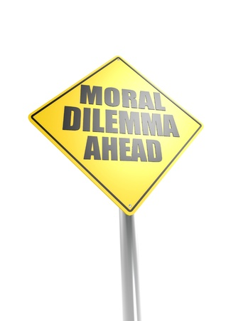 Moral dilemma ahead Stock Photo - 16755425