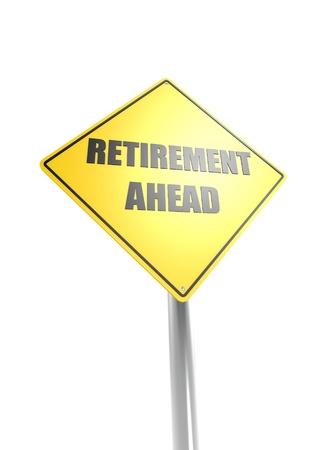 Retirement ahead Stock Photo - 16755396