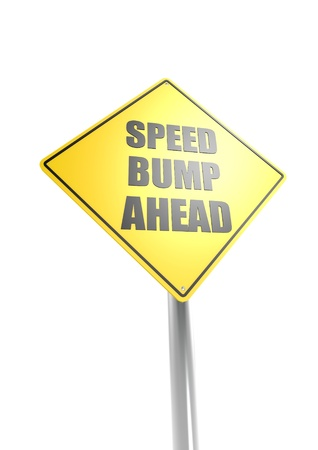 Speed bump ahead Stock Photo - 16755428