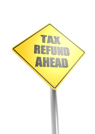 Tax refund ahead Stock Photo - 16755414