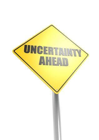 Uncertainty ahead Stock Photo - 16755404