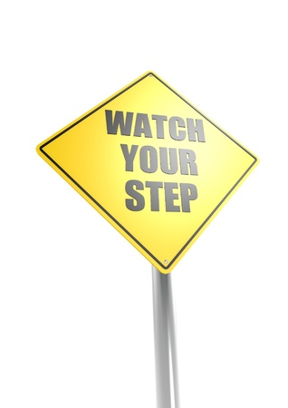 Watch your step Stock Photo - 16755406