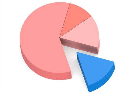 blue red pie chart  photo