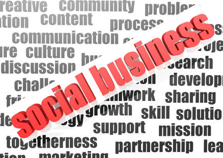 Business work of social business photo