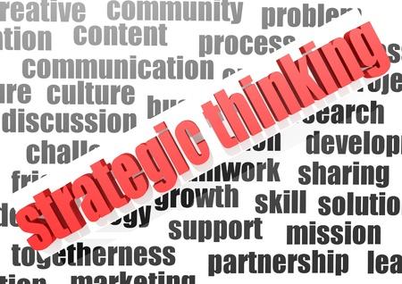 Business work of strategic thinking Stock Photo - 16932109