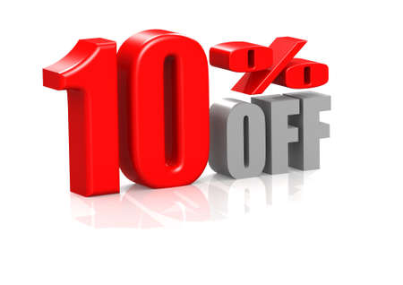 10 percent off Stock Photo - 16950530