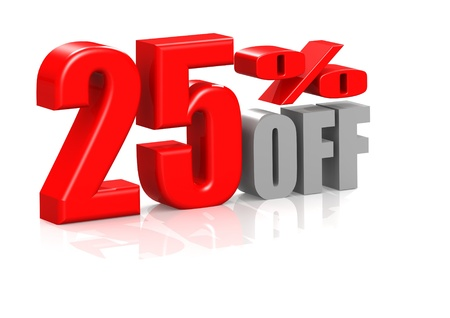 25 percent off Stock Photo - 16950533