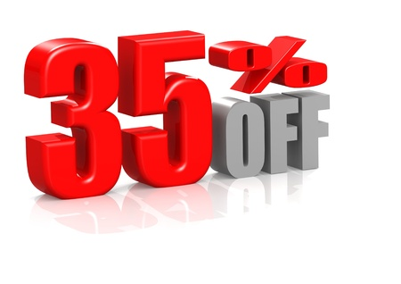 35: 35 percent off Stock Photo