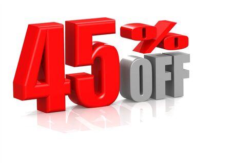 45 percent off Stock Photo - 16950548