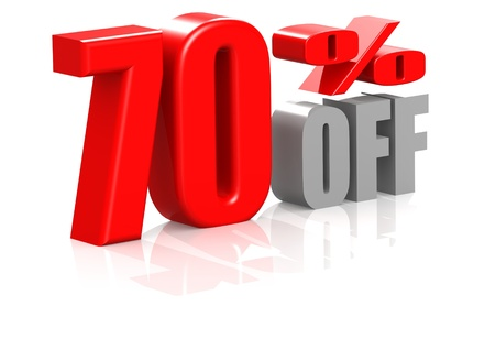 70 percent off Stock Photo - 16950547
