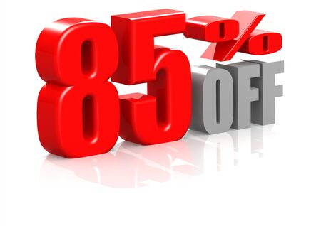 85 percent off Stock Photo - 16950541