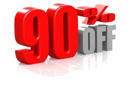 90 percent off Stock Photo - 16950539