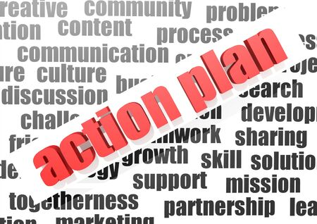 Business work of action plan photo