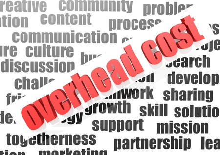 Business work of overhead cost photo