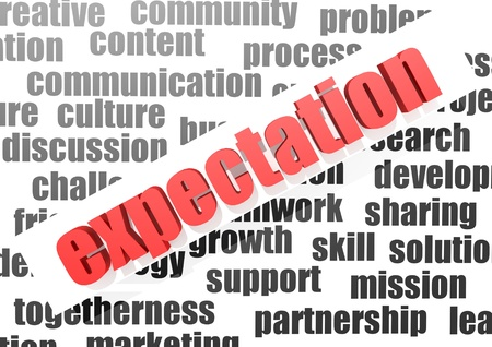 business word of expectation Stock Photo - 16969521