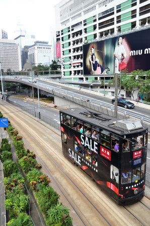 tramcar: double-deck tramcar