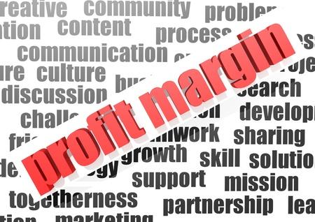 margen: Empresas de trabajo de margen de beneficio