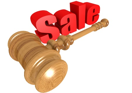 Sale with mallet photo