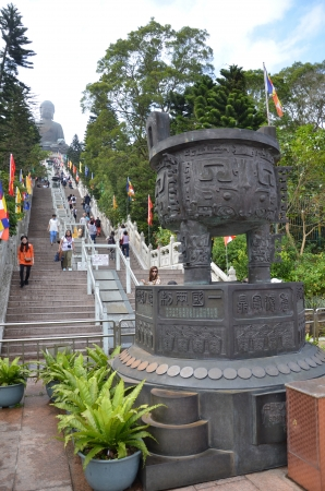 Stair to the giant buddha, Hong Kong