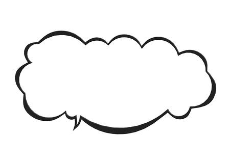 Cloud bubble Imagens