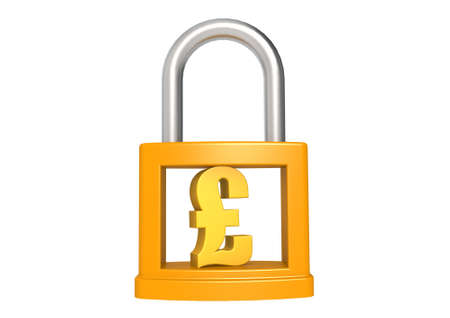 Pound in the padlock Stock Photo - 17274470