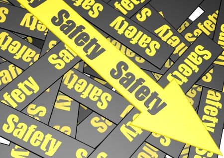 Safety banner Stock Photo - 17274479