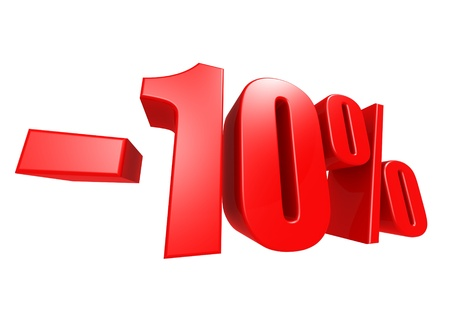 Minus 10 percent Stock Photo - 17274480