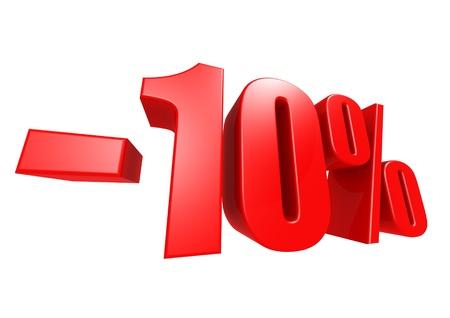 Minus 10 percent Stock Photo - 17274480