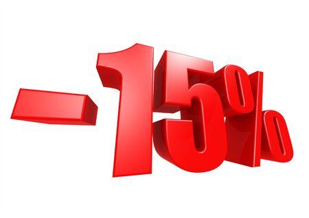 Minus 15 percent Stock Photo - 17274481