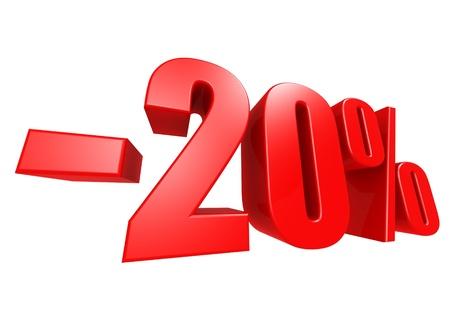 Minus 20 percent Stock Photo - 17274492