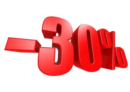 Minus 30 percent Stock Photo - 17274491