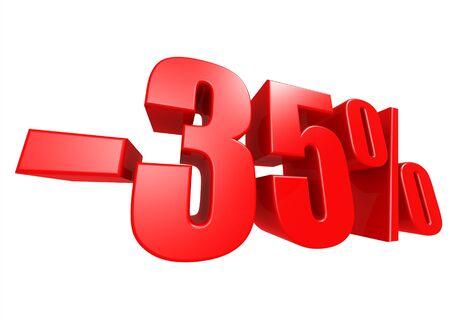 35: Minus 35 percent