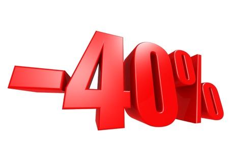 Minus 40 percent Stock Photo - 17274483
