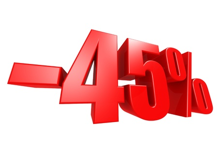 Minus 45 percent Stock Photo - 17274485