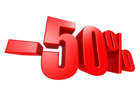 Minus 50 percent Stock Photo - 17274489