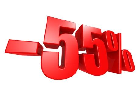 Minus 55 percent Stock Photo - 17274498