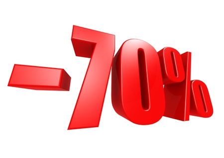 Minus 70 percent Stock Photo - 17274482