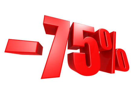Minus 75 percent Stock Photo - 17274484